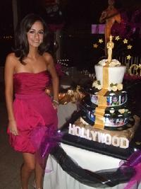 hollywood sweet sixteen cake