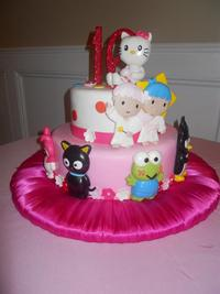 hello kitty sweet sixteen cake