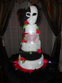 phantom of the opera sweet sixteen cake