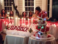 christmas sweet sixteen cake
