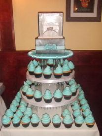 Engagement Cupcake Tower