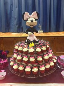 Mini Mouse Cupcake tower
